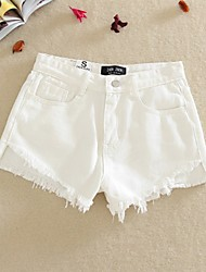 Women's High Rise Micro-elastic Jeans Shorts Pants,Vintage Loose Pleated Solid