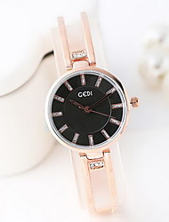 Women's Fashion Watch Simulated Diamond Watch Water Resistant / Water Proof Japanese Quartz Rose Gold Plated Alloy Band Cool CasualRose
