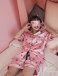 Really making 2017 spring new Japanese soft sister sweet and lovely printed pajamas tracksuit three-piece tide