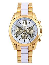 Masculino Relógio de Moda Quartzo Lega Banda Casual Preta Branco Azul Dourada Amarelo