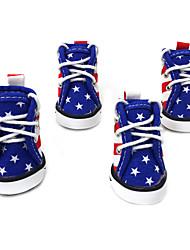 Собака Ботинки и сапоги Милые Мода Спорт Цветовые блоки Синий