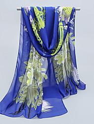 Sunscreen Silk Chiffon Female Mmother Thin Long Scarf Shawls Rectangle Print Women's