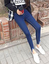 знак выращивание диких корейский моды просто высокие карманы бедра были тонкие брюки прилив сингапурских