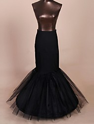 Slips Mermaid and Trumpet Gown Slip Floor-length Tea-Length 1 Nylon Tulle Netting Polyester Black