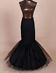 Déshabillés Robe sirène et robe évasée Ras du Sol Mollet 1 Nylon Filet de tulle Polyester Noir