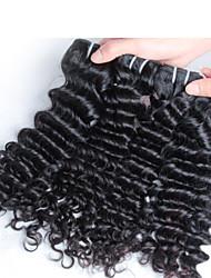 4 pcs/ lot Raw Unprocessed Virgin Indian Hair,  Deep Wave Unprocessed Virgin Indian Remy Hair