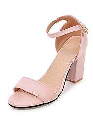 Da donna-Sandali-Ufficio e lavoro Formale Casual-Club Shoes-Quadrato-PU (Poliuretano)-Nero Beige Rosa