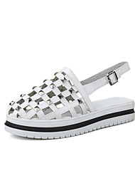 Women's Sandals Summer Light Soles Leatherette Casual Low Heel Rivet