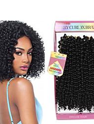 Curly Curly Braids Hair Extensions Kanekalon Hair Braids
