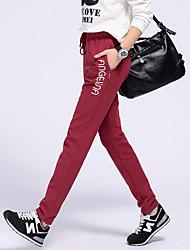 знак Отем Коттон стрейч брюки случайные шаровары свободные программы ПОМ большие ярдов женские спортивные брюки бег трусцой брюки ноги