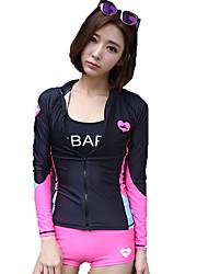 Women's Wetsuit Skin Breathable Ultraviolet Resistant Comfortable Sunscreen Elastane Terylene Diving Suit Long SleeveSwimming Diving