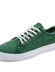 Herren-Sneaker-Outddor Lässig Sportlich-Tüll Leinwand-Flacher Absatz-Komfort-Weiß Orange Grau Grün Blau
