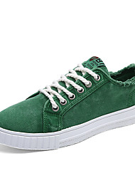 Männer Sneakers Komfort Leinwand casual blau grün grau orange weiß