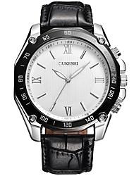 Masculino Relógio Elegante Relógio de Moda Relógio Casual Chinês Quartzo PU Banda Legal Casual Preta Branco Preto