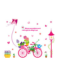Wall Stickers Wall Decals Style Bonsai Card Bicycle PVC Wall Stickers