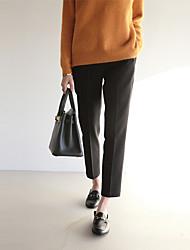 весной новой корейской версии случайных костюм брюки женщина колготки значительно тонкие прямые брюки ноги широко песня halun брюки
