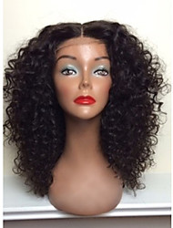 Hot Sale!! 100% Brazilian Human Hair Full Lace Wigs Natural Blank Kinky Curly Full Lace Wig For Woman With Baby Hair