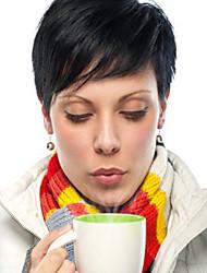 Refreshing   Natural Black Short Hair Human Hair Wig For Women