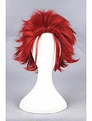 k curto suoh vermelho mikoto sintético 12 polegadas cosplay anime peruca cs-279a