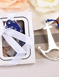 Stainless Steel Bottle Favor-1Piece/Set Bottle Openers Beach Theme Non-personalised Silver 9.5 x 7.3 x 1.5cm/box Beter Gifts®