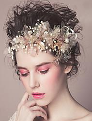 Pearl Headpiece-Wedding Special Occasion Casual Outdoor Headbands Flowers Wreaths Hair Clip Hair Stick Hair Tool 1 Piece