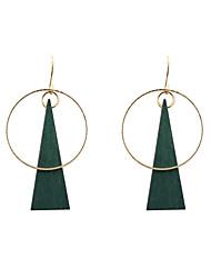 Женский Серьги-слезки Уникальный дизайн бижутерия Мода Euramerican Дерево Сплав Круглый Геометрической формы Треугольной формы Бижутерия