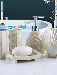 Mediterranean Bathroom Supplies Bathroom Accessory SetResin /Mediterranean