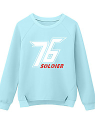 Inspired by Game OW Overwatch Soldier 76 Cosplay T-shirt Blue Print Long Sleeve Cosplay Costumes