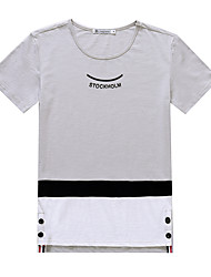 Signer slim 2017 summer new men&# T-shirt en coton à manches courtes étudiants coréens