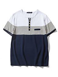 Sommermänner&# 39; s gestreiftes Nähen T-Shirt Aberdeen Wind