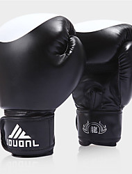 Boxing Gloves for Boxing Full-finger Gloves Protective PU Black Red