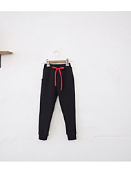 Girls' Sports Solid Pants-Cotton Spring Fall