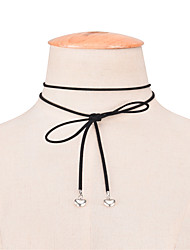 Women's Choker Necklaces Jewelry Alloy Bowknot Dangling Style Double-layer Fashion Adjustable Adorable Cute Style Euramerican Simple Style