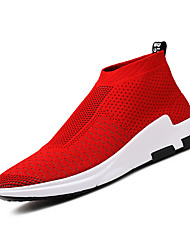 Men's Loafers & Slip-Ons Comfort Light Soles Spring Tulle Casual Red Silver Black Flat
