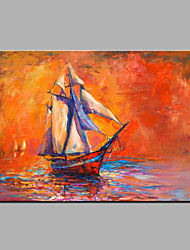 Hand-Painted Abstract The Red Sea View Oil painting Ready To Hang Modern One Panels Canvas Oil Painting For Home Decoration