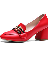 Women's Loafers & Slip-Ons Summer Fall Club Shoes Microfibre Office & Career Dress Casual Chunky Heel