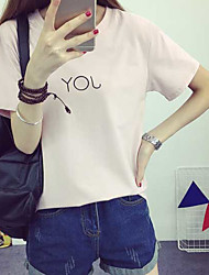Знак 2017 новая корейская версия выращивания диких букв t рубашка летняя с коротким рукавом футболка нижняя сострадательная простота