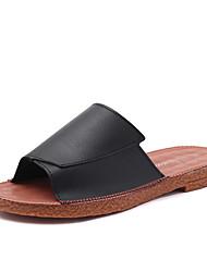 Women's Slippers & Flip-Flops Spring Summer Comfort PU Casual Low Heel