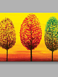 IARTS Hand Painted Modern Abstract Landscape Oil Painting Color Trees For Home Decoration
