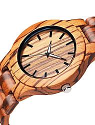 Hombre Reloj de Pulsera Cuarzo de madera Madera Banda Elegantes Color Beige