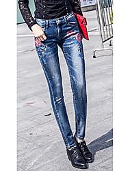 Pantalons élastiques élastiques élastiques pantalons femme imprimé étirement crayon pantalons pantalons féminins pantalons femme nouvelle
