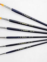 1 partie en bois barre noire nylon maillot de stylo d'aquarelle