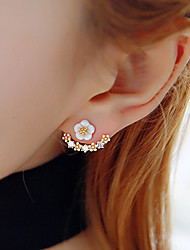Women's Stud Earrings AAA Cubic Zirconia Friendship Fashion Costume Jewelry Resin Rhinestone Gold Plated Flower Daisy Jewelry For Party