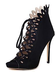 Sandals Summer Club Shoes Fleece Dress Stiletto Heel Lace-up