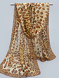 Leopard Sunscreen Silk Chiffon Female Mmother Thin Long Scarf Shawls