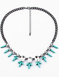 Women's Strands Necklaces Leaf Chrome Unique Design Fashion Light Blue Red Jewelry For Wedding Congratulations 1pc