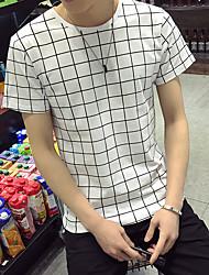 neue Männer&# 39; s karierten kurzärmeligen T-Shirt Supermarkt