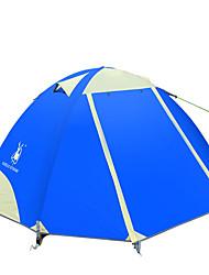 2 Pessoas Tenda Duplo Um Quarto Barraca de acampamentoCampismo Viajar-Verde Azul