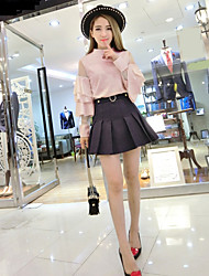 Sign Nett spring new sleeve shirt + cake skirt suits Spot
