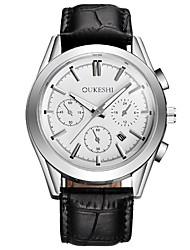 Masculino Relógio Elegante Relógio de Moda Relógio Casual Chinês Quartzo PU Banda Legal Casual Preta Branco Preto Marron Azul